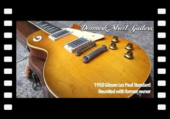 Orignal 1958 Gibson Les Paul Standard reunited with former owner Phil Harris