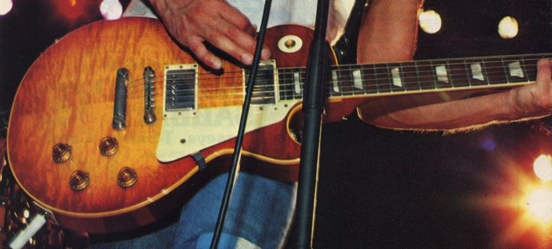Billy Squier's Les Paul guitars